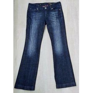 Express Stella Boot Leg Jeans 6 Sequin Design